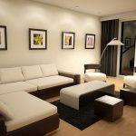 Cách phối màu sơn trần nhà phòng khách đẹp